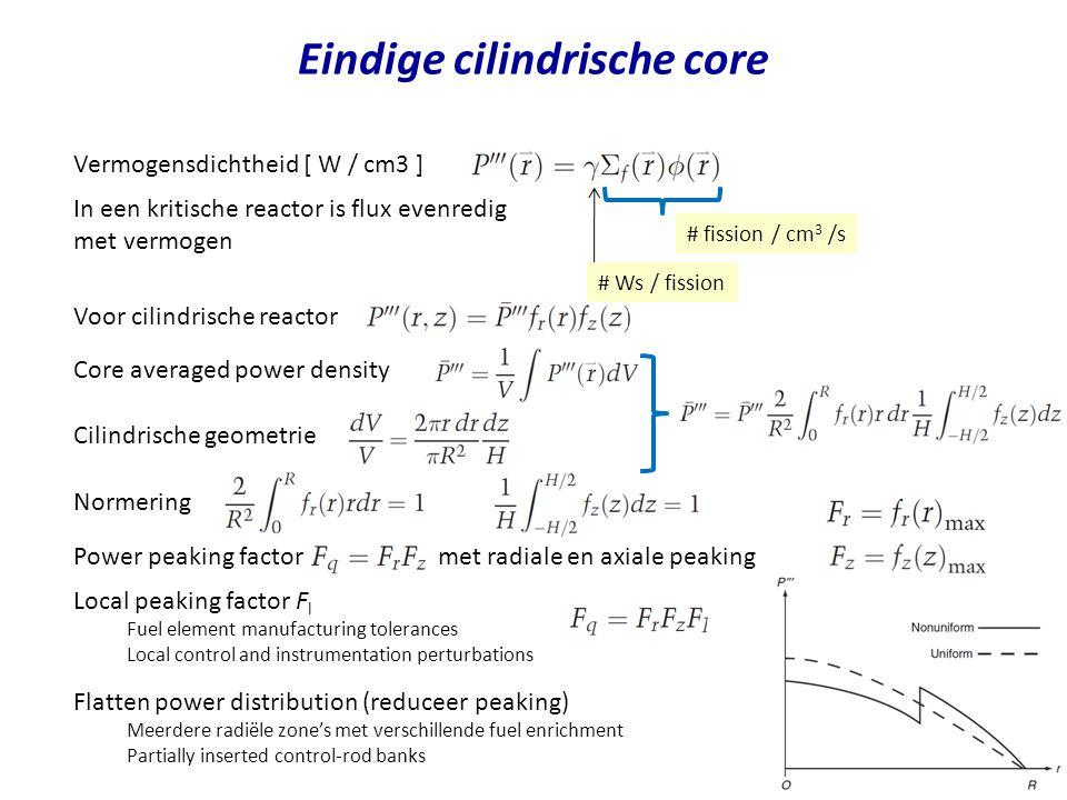 Eindige cilindrische core