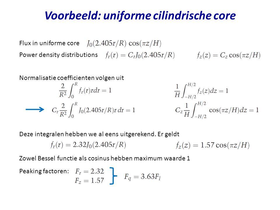 Voorbeeld: uniforme cilindrische core