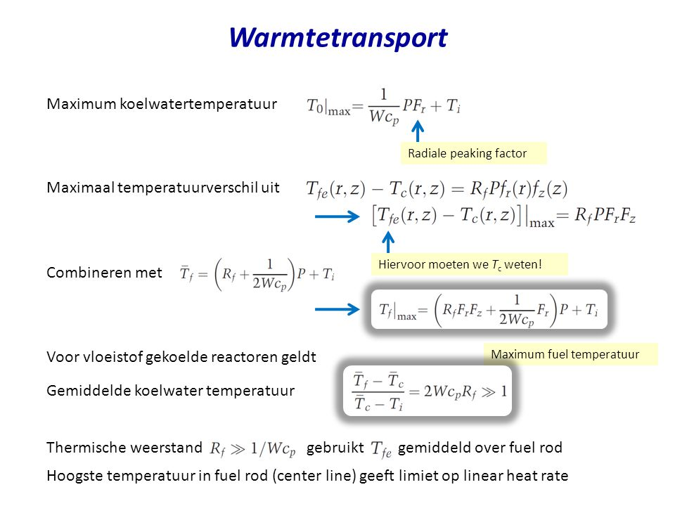 Warmtetransport Maximum koelwatertemperatuur