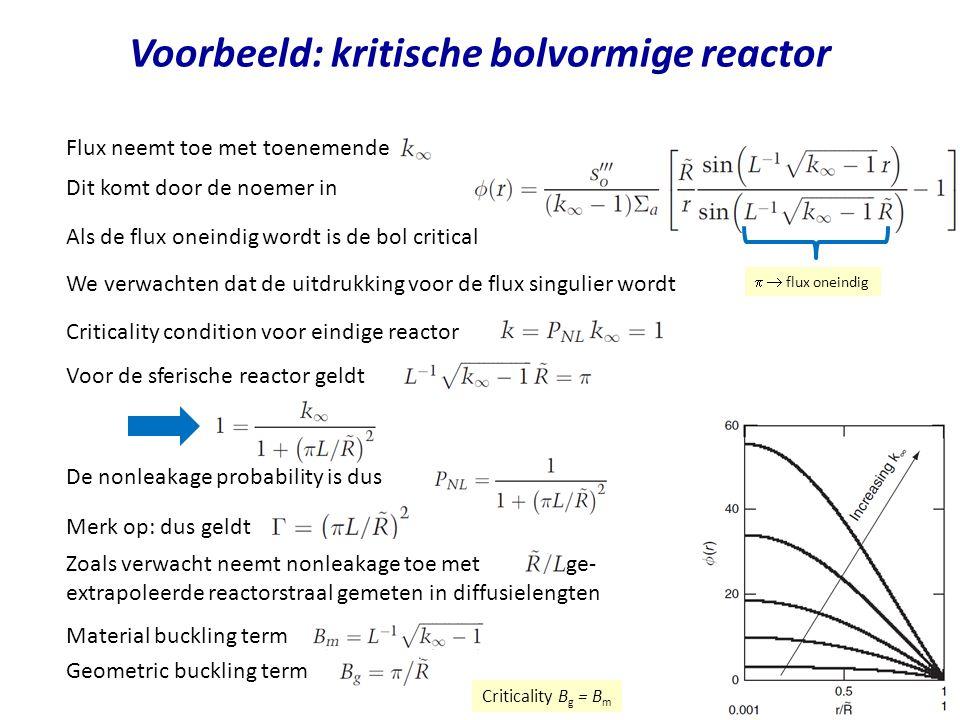 Voorbeeld: kritische bolvormige reactor