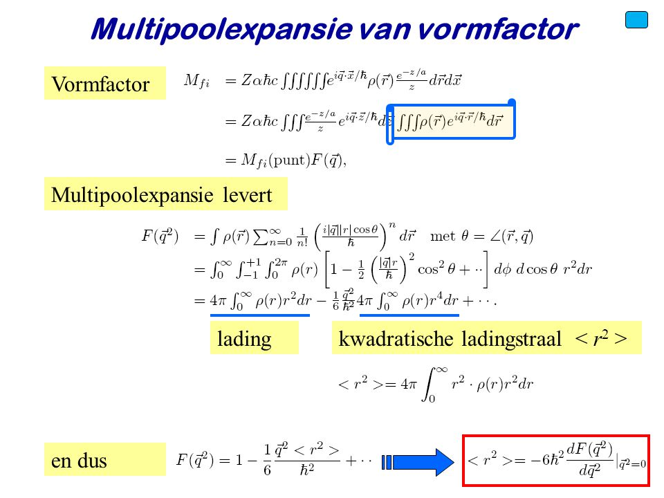 Multipoolexpansie van vormfactor