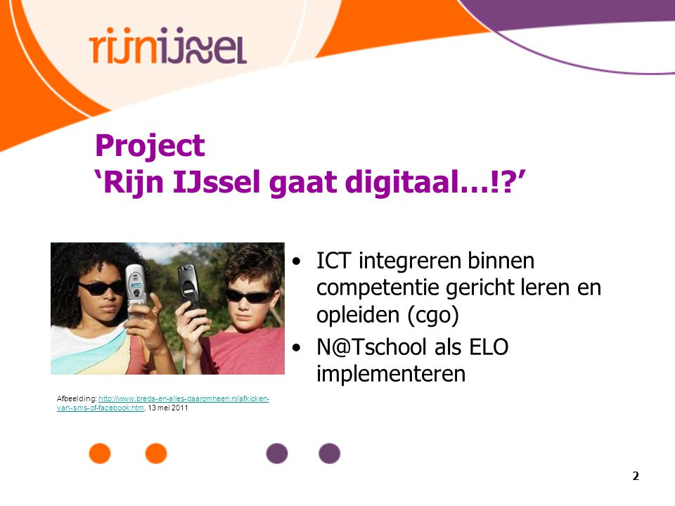 Project 'Rijn IJssel gaat digitaal…! '