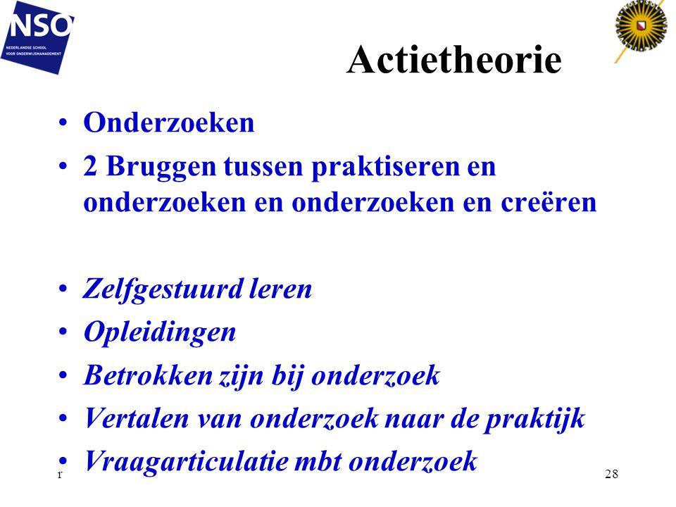 Actietheorie Onderzoeken