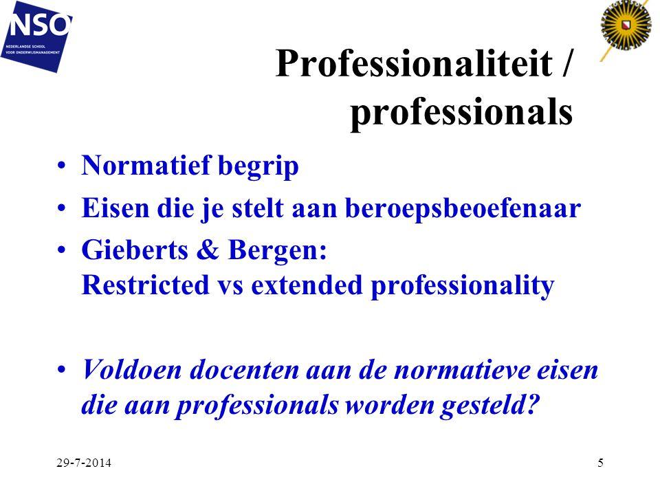 Professionaliteit / professionals