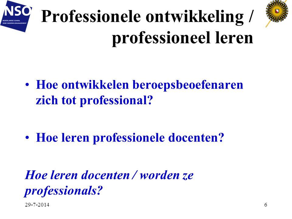 Professionele ontwikkeling / professioneel leren