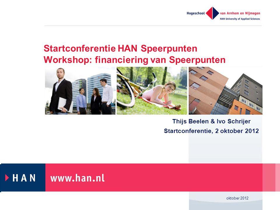 Thijs Beelen & Ivo Schrijer Startconferentie, 2 oktober 2012