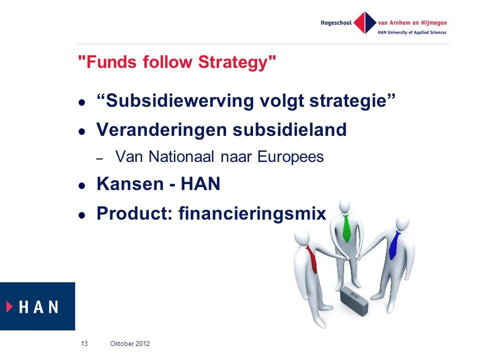 Subsidiewerving volgt strategie Veranderingen subsidieland