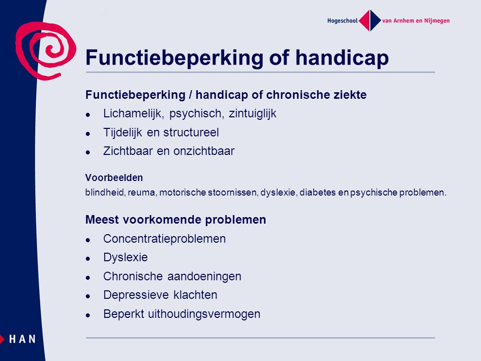 Functiebeperking of handicap