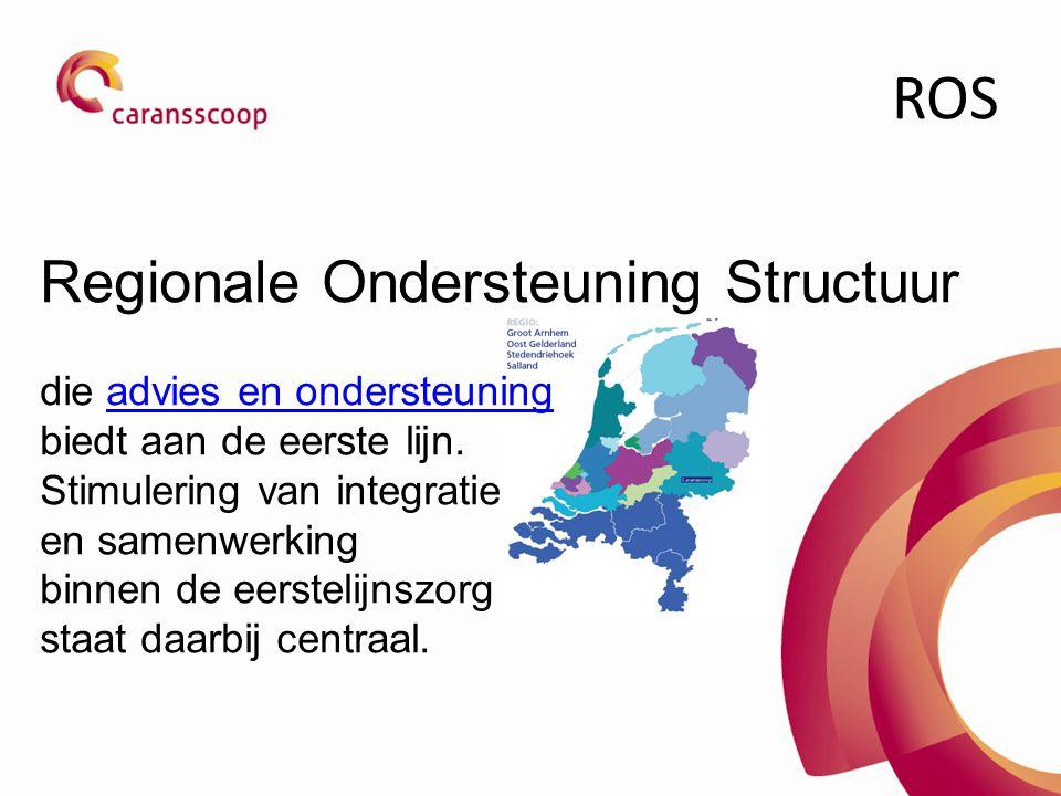 ROS Regionale Ondersteuning Structuur die advies en ondersteuning