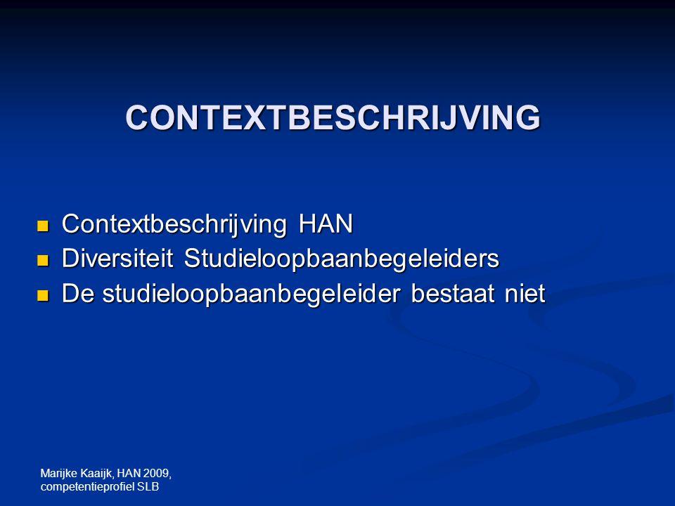 CONTEXTBESCHRIJVING Contextbeschrijving HAN