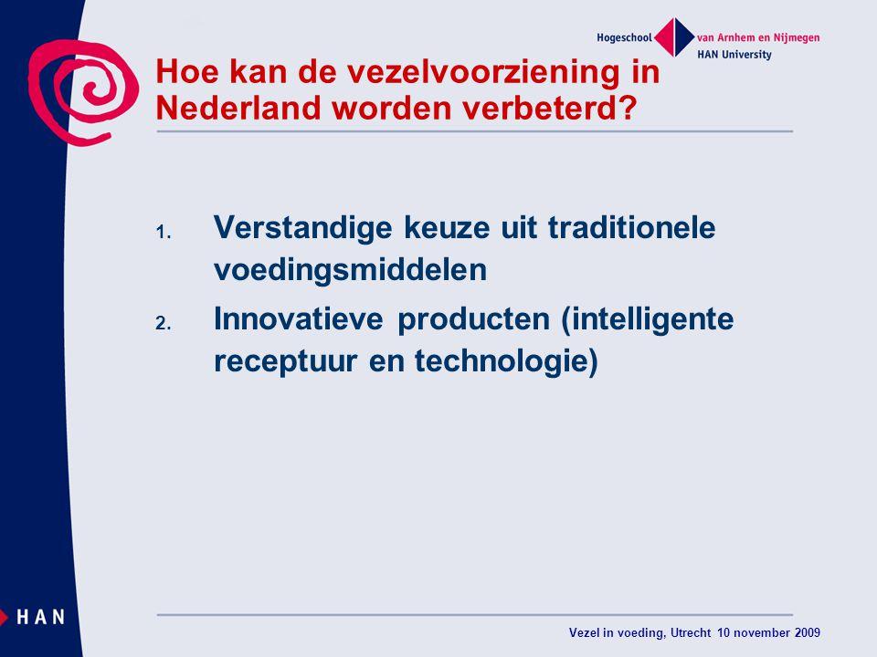 Hoe kan de vezelvoorziening in Nederland worden verbeterd