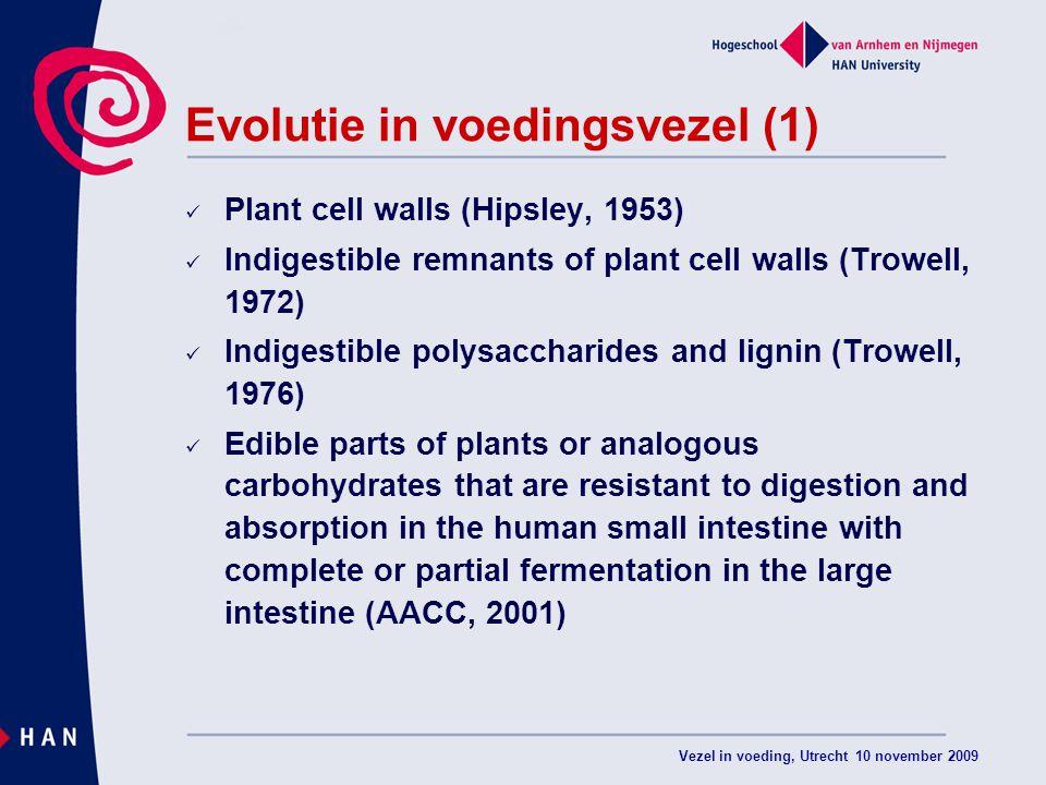 Evolutie in voedingsvezel (1)