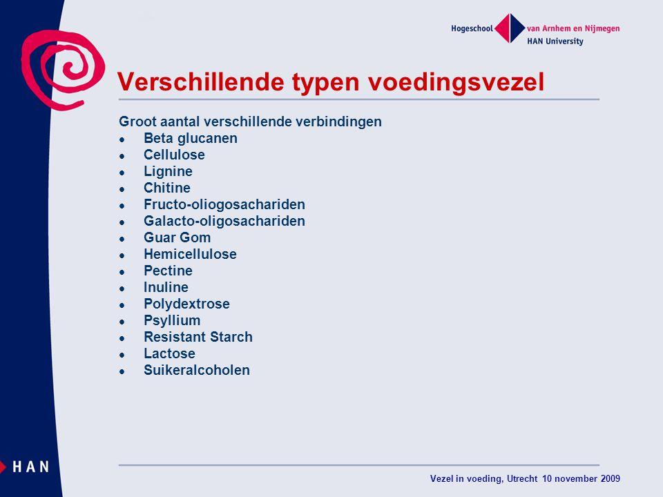 Verschillende typen voedingsvezel