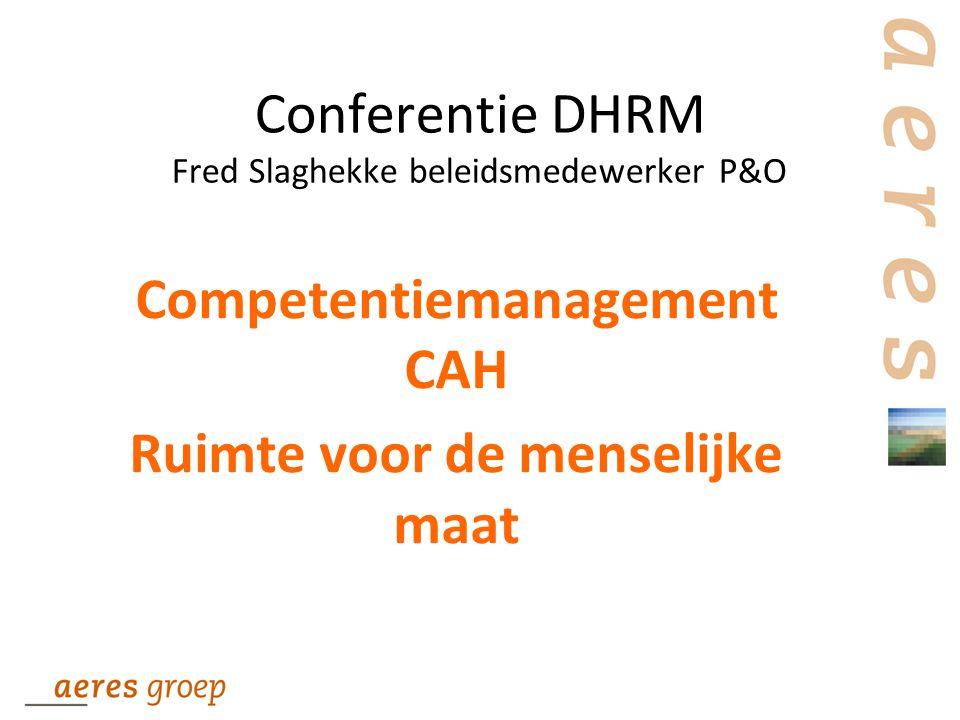 Conferentie DHRM Fred Slaghekke beleidsmedewerker P&O