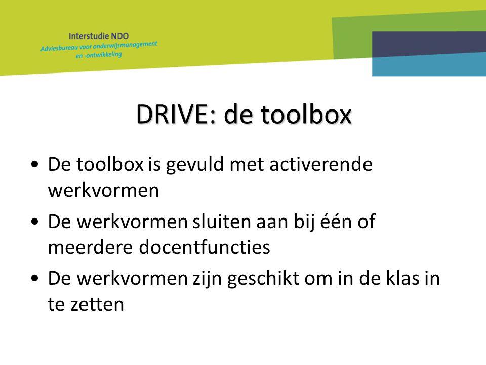 DRIVE: de toolbox De toolbox is gevuld met activerende werkvormen