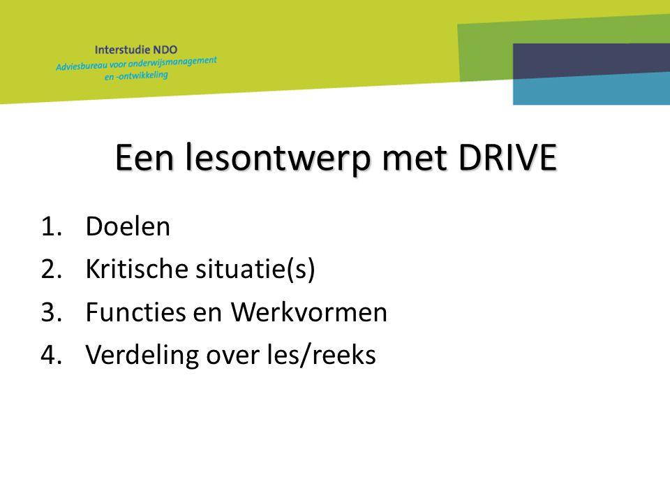Een lesontwerp met DRIVE