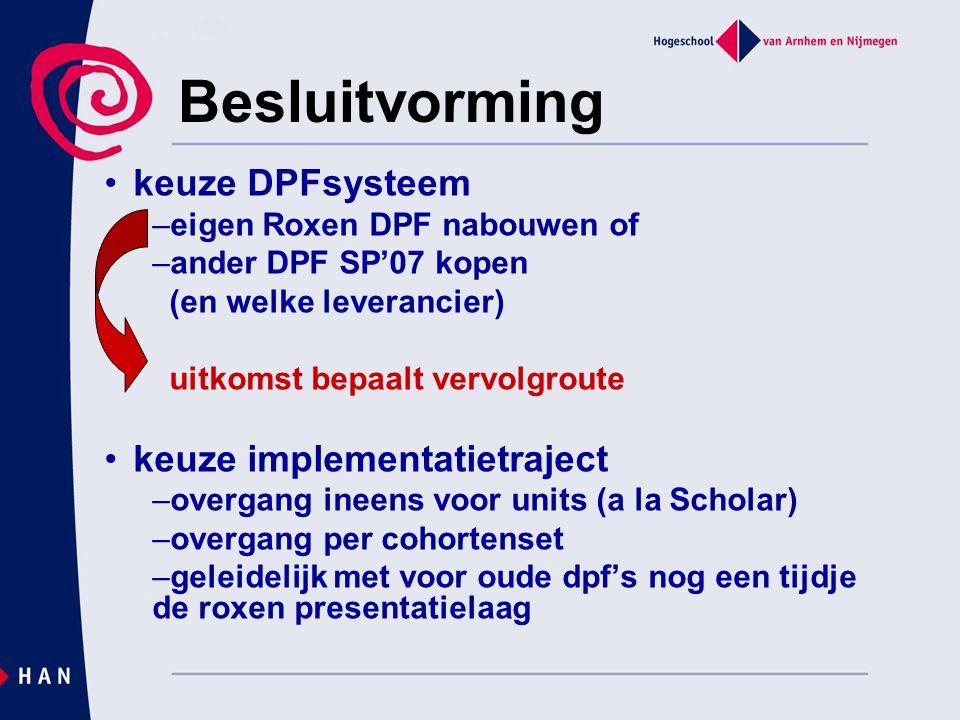 Besluitvorming keuze DPFsysteem keuze implementatietraject