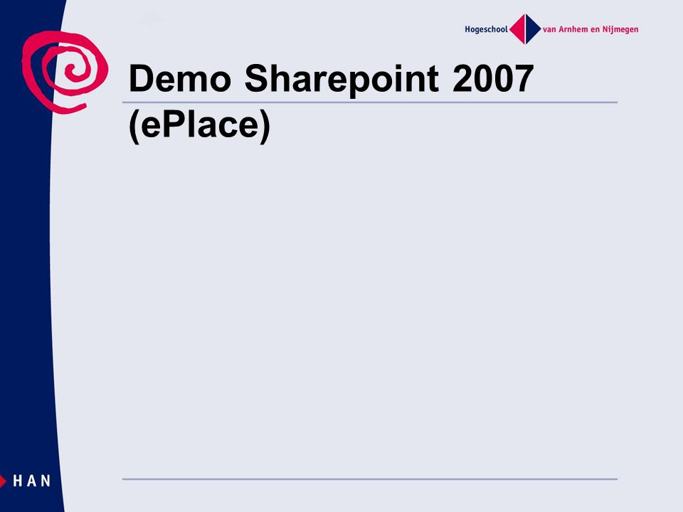 Demo Sharepoint 2007 (ePlace)