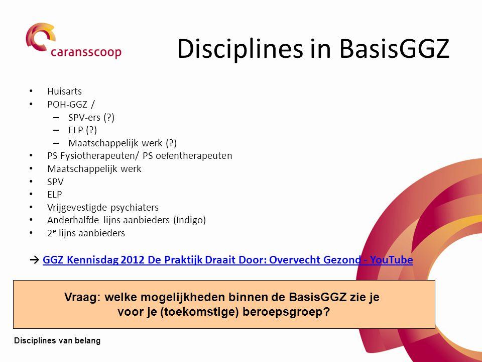 Disciplines in BasisGGZ