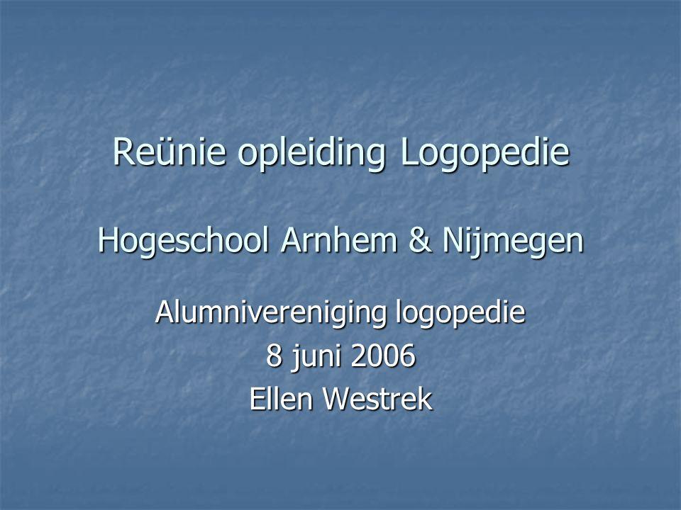 Reünie opleiding Logopedie Hogeschool Arnhem & Nijmegen