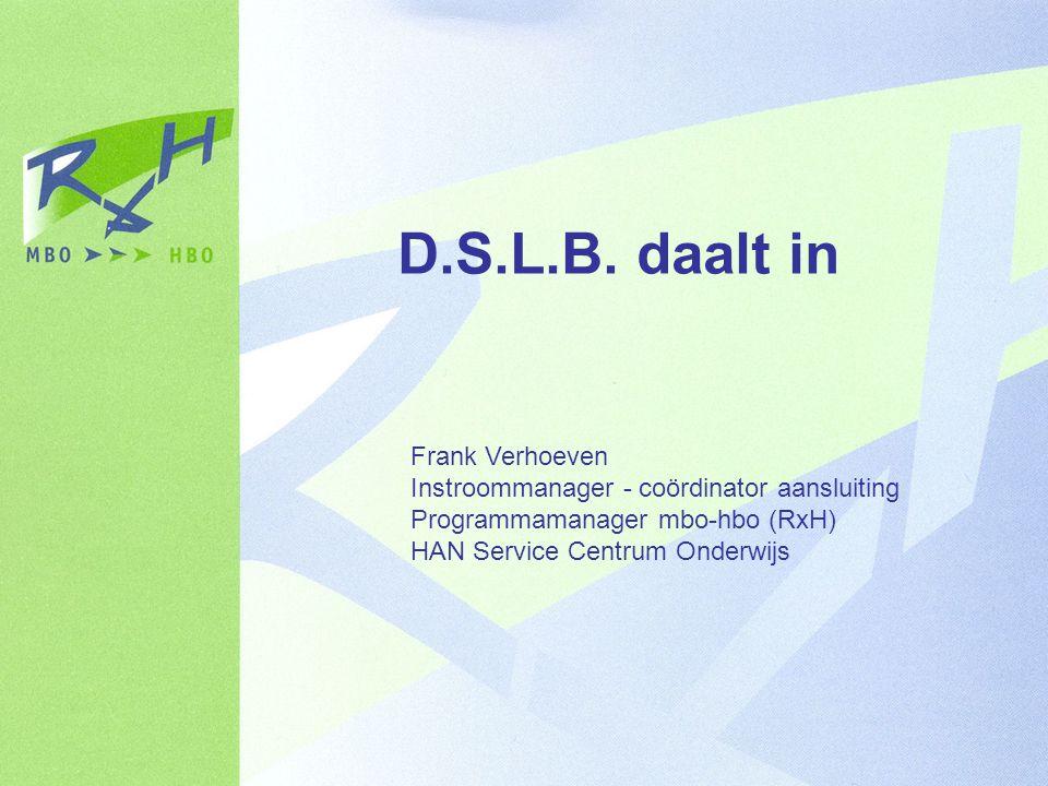 D.S.L.B. daalt in Frank Verhoeven