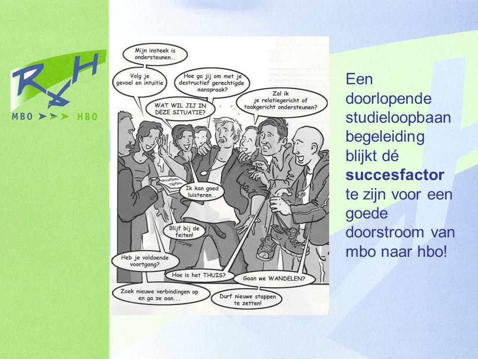Een doorlopende studieloopbaanbegeleiding blijkt dé succesfactor te zijn voor een goede doorstroom van mbo naar hbo!
