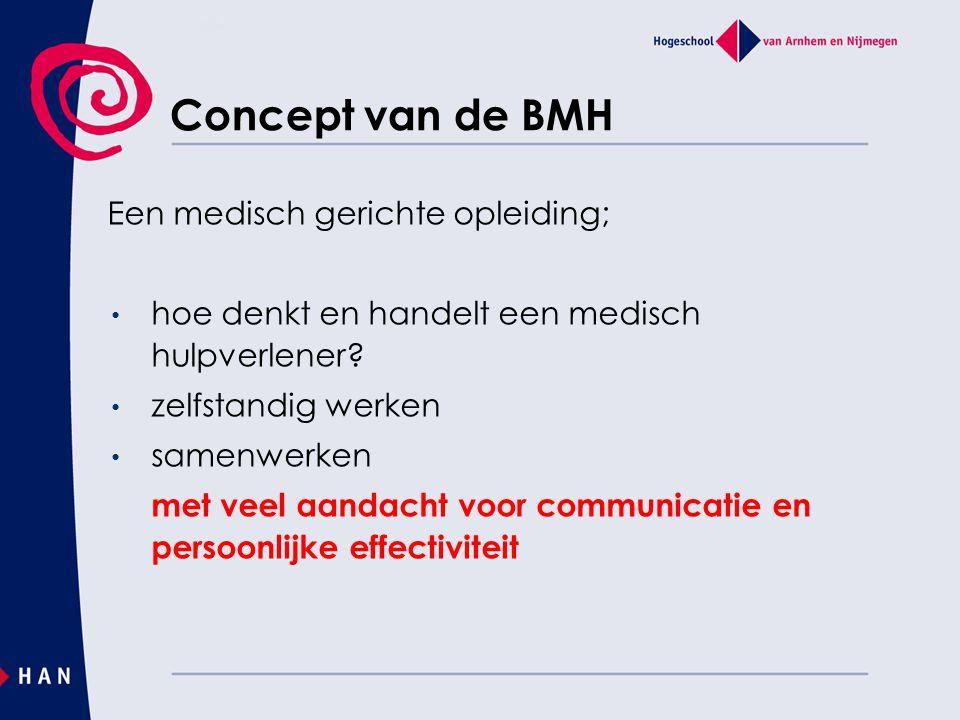 Concept van de BMH Een medisch gerichte opleiding;
