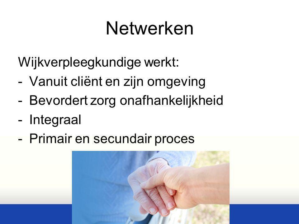 Netwerken Wijkverpleegkundige werkt: Vanuit cliënt en zijn omgeving