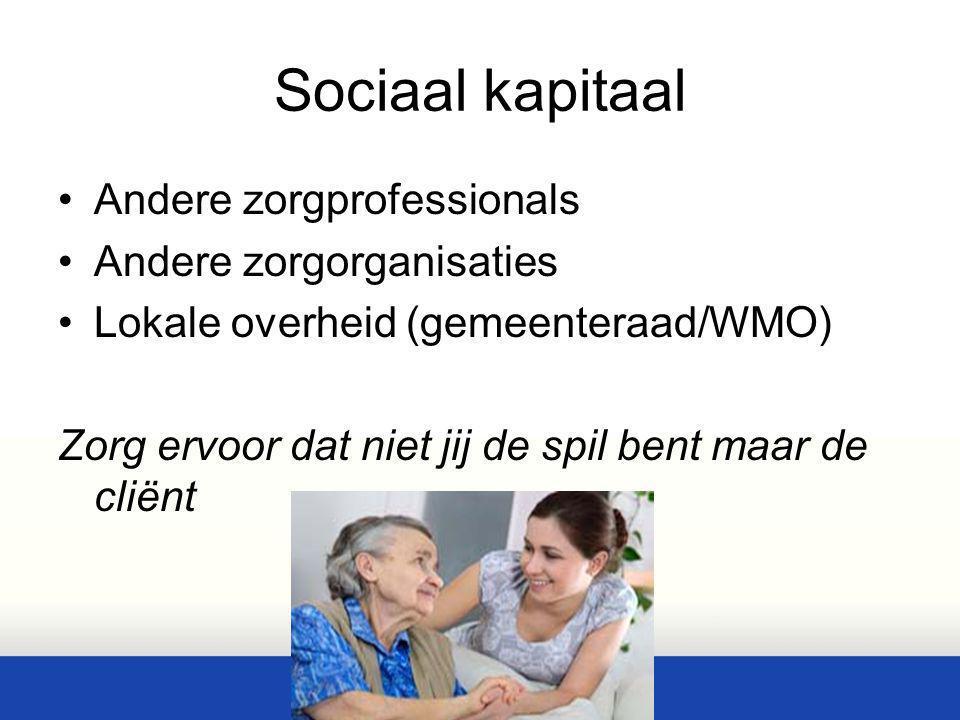Sociaal kapitaal Andere zorgprofessionals Andere zorgorganisaties