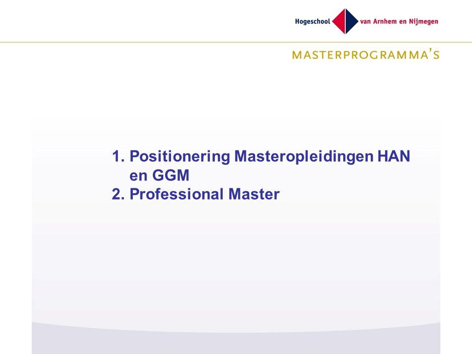 GGGG Positionering Masteropleidingen HAN en GGM Professional Master