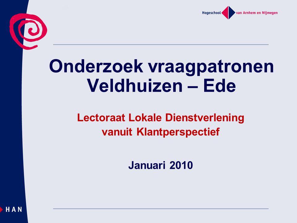 Onderzoek vraagpatronen Veldhuizen – Ede