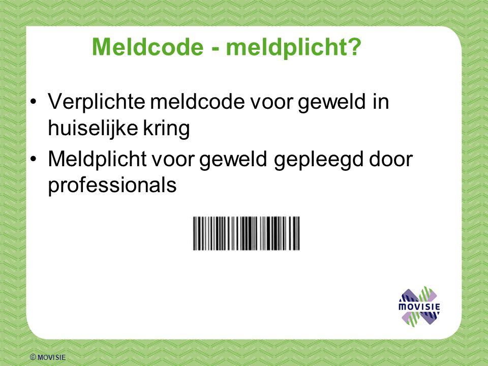 Meldcode - meldplicht. Verplichte meldcode voor geweld in huiselijke kring.