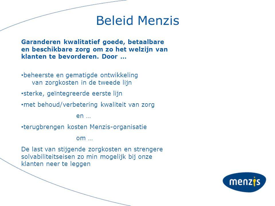 Beleid Menzis Garanderen kwalitatief goede, betaalbare en beschikbare zorg om zo het welzijn van klanten te bevorderen. Door …