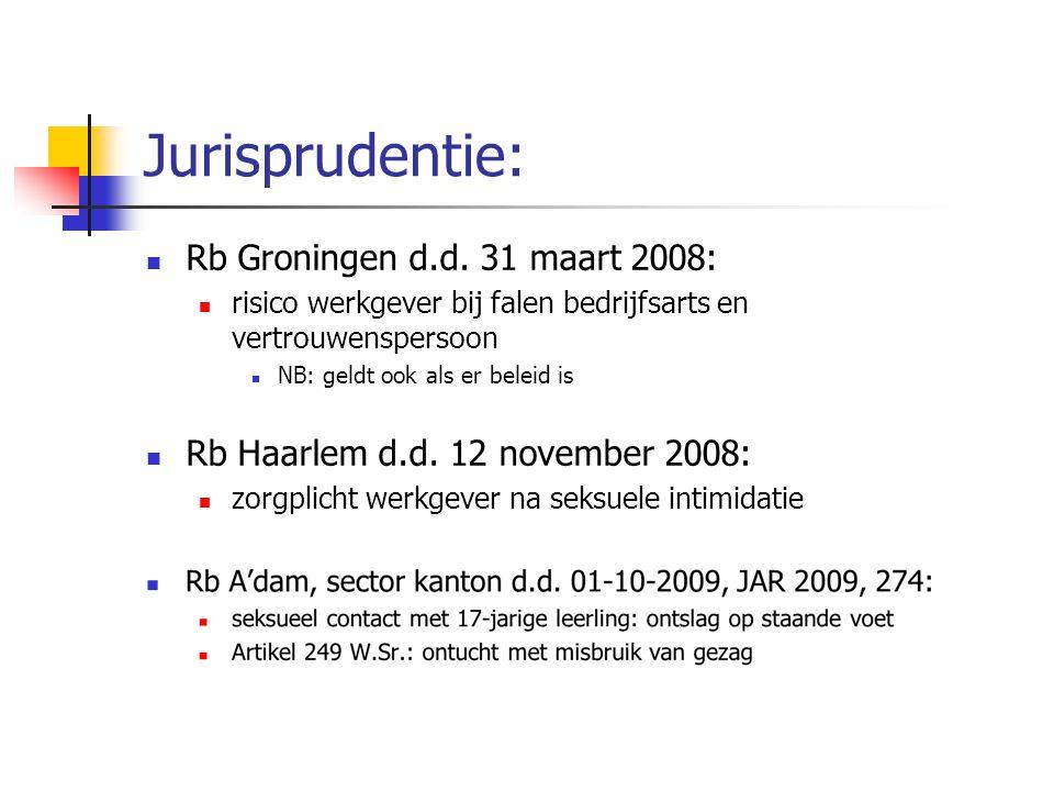 Jurisprudentie: Rb Groningen d.d. 31 maart 2008: