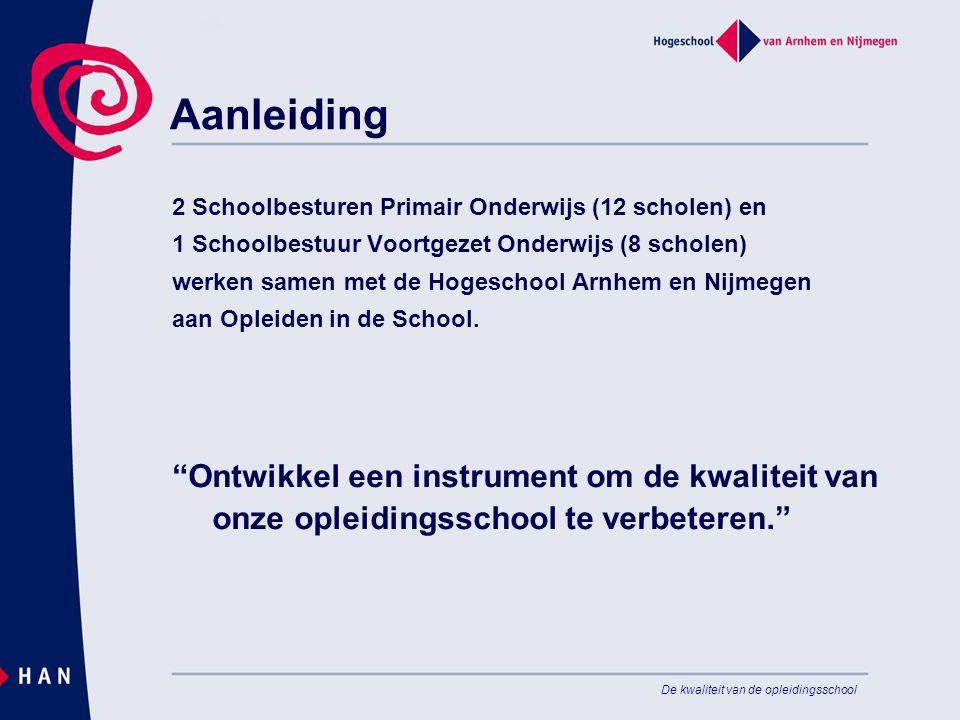 Aanleiding 2 Schoolbesturen Primair Onderwijs (12 scholen) en. 1 Schoolbestuur Voortgezet Onderwijs (8 scholen)
