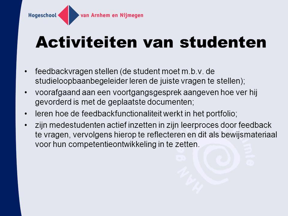 Activiteiten van studenten