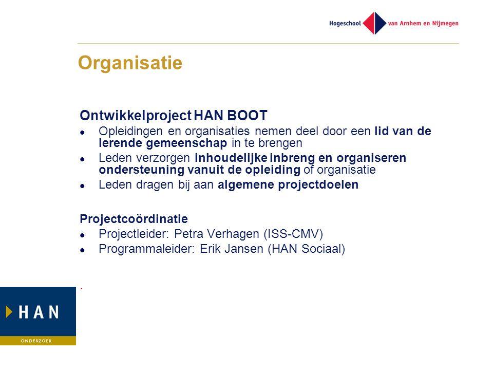 Organisatie Ontwikkelproject HAN BOOT .