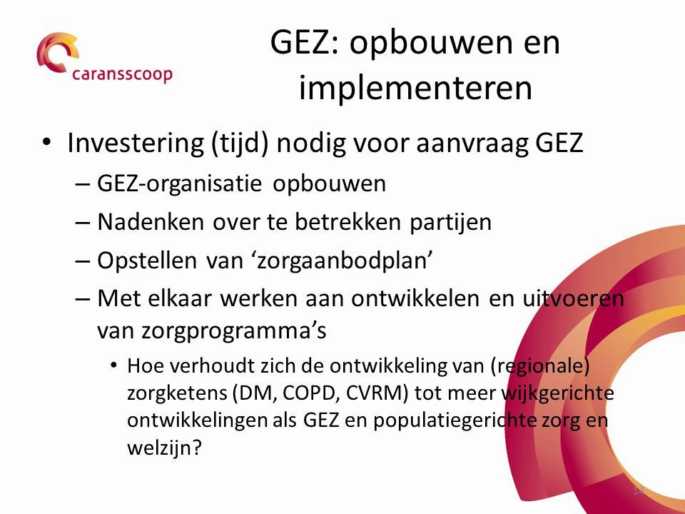 GEZ: opbouwen en implementeren