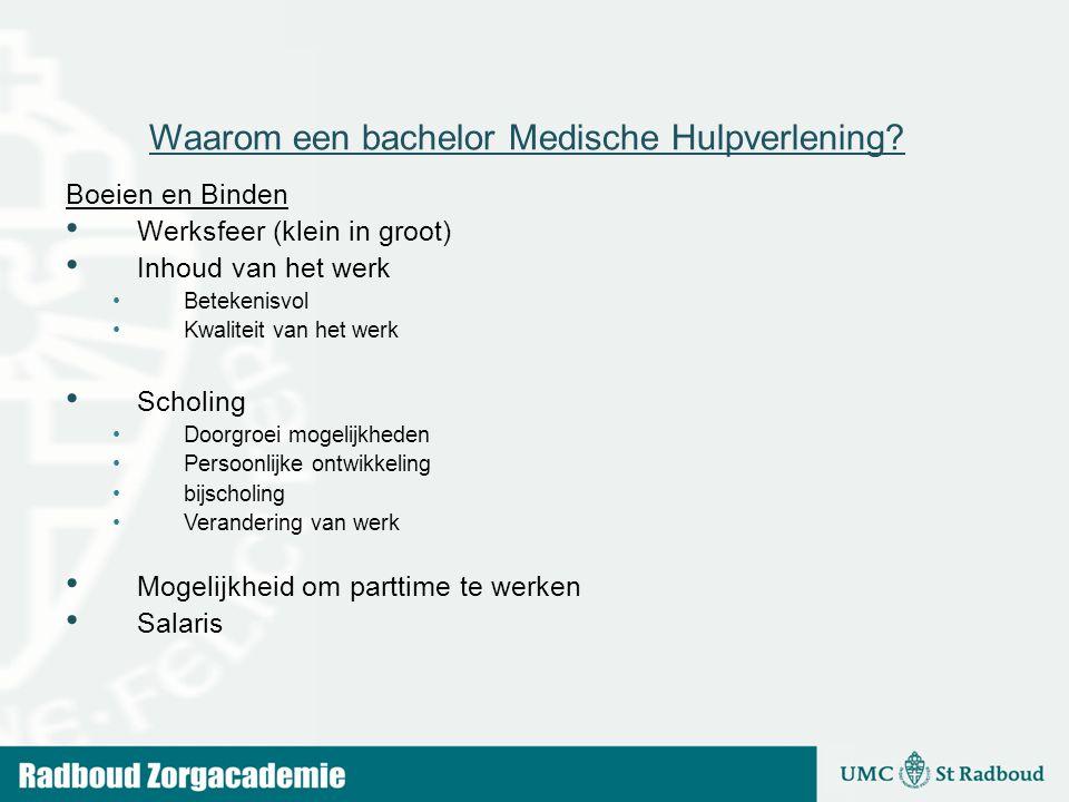Waarom een bachelor Medische Hulpverlening