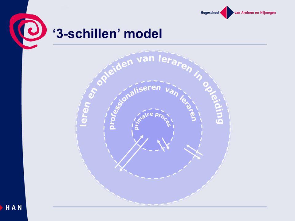 '3-schillen' model leren en opleiden van leraren in opleiding