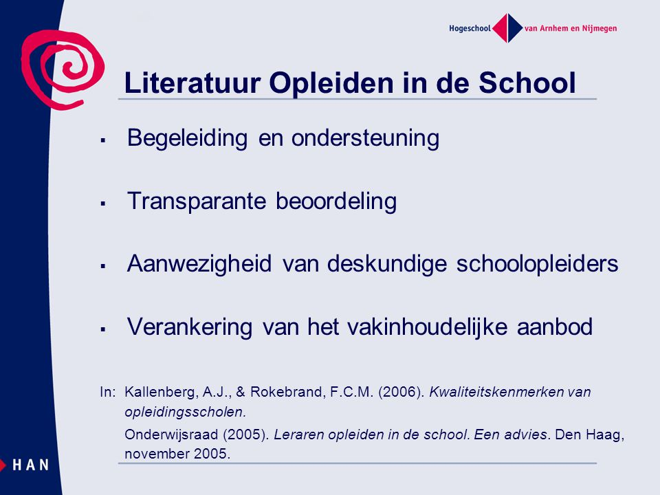 Literatuur Opleiden in de School