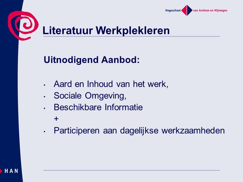 Literatuur Werkplekleren