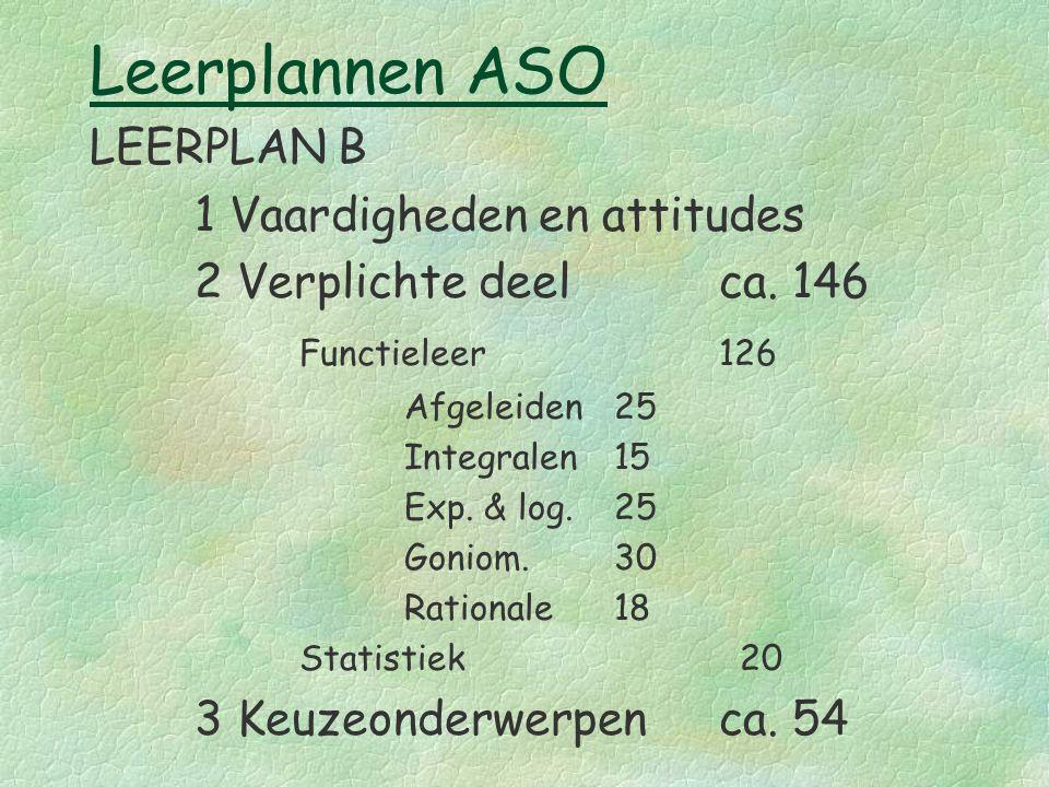 Leerplannen ASO LEERPLAN B 1 Vaardigheden en attitudes