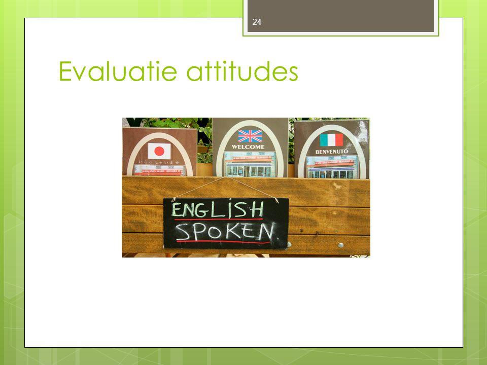 Evaluatie attitudes