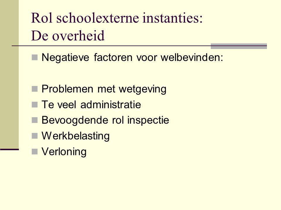 Rol schoolexterne instanties: De overheid