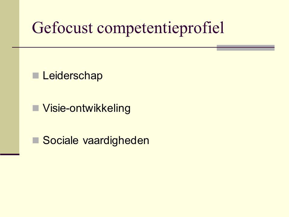 Gefocust competentieprofiel