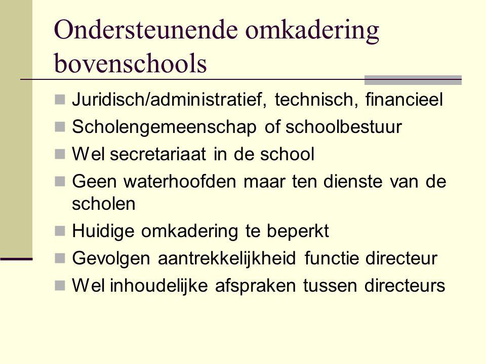 Ondersteunende omkadering bovenschools