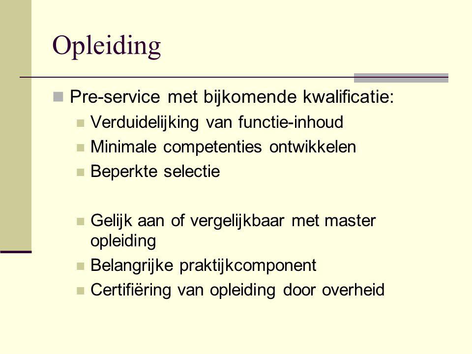 Opleiding Pre-service met bijkomende kwalificatie: