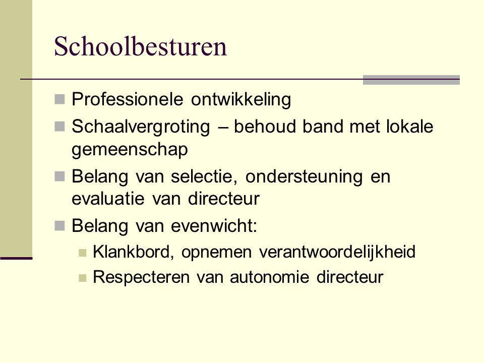 Schoolbesturen Professionele ontwikkeling