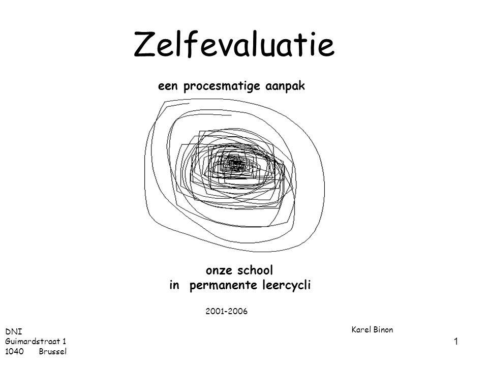 Zelfevaluatie een procesmatige aanpak onze school